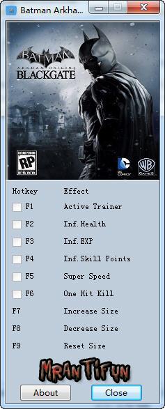 蝙蝠侠:阿甘起源修改器+8