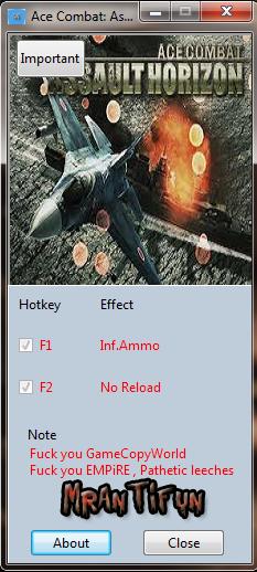 皇牌空战7修改器+2