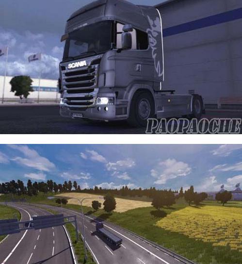 欧洲卡车模拟2真实图像MOD