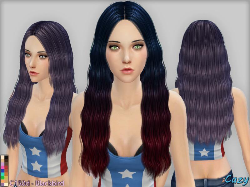 模拟人生4女性波浪中分长发MOD