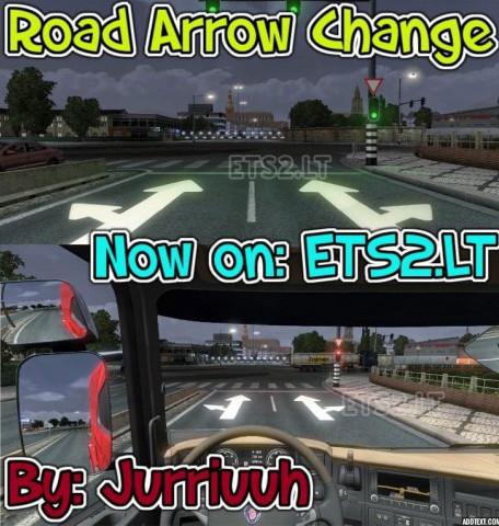 欧洲卡车模拟2道路箭头指示MOD