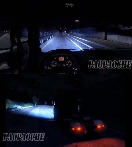 欧洲卡车模拟2疝气灯MOD