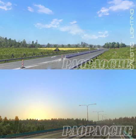 欧洲卡车模拟2真实天空及天气MOD