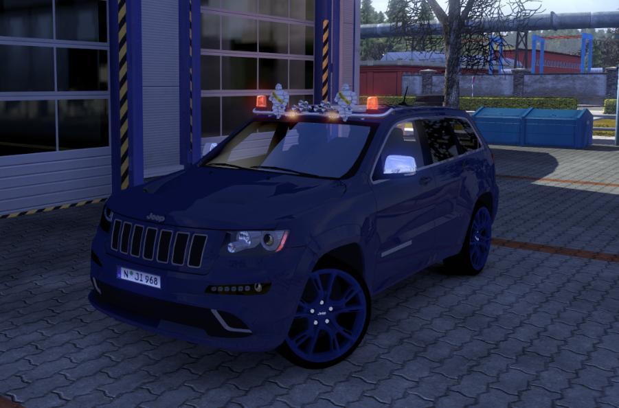 欧洲卡车模拟2大切诺基SRT8车型MOD