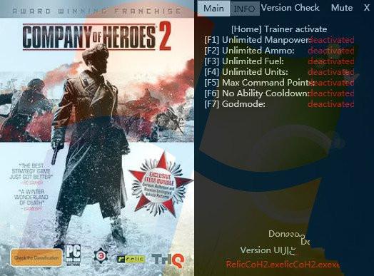 英雄连2v3.0.0.15852修改器+7