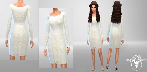 模拟人生4美女性感蕾丝上衣MOD