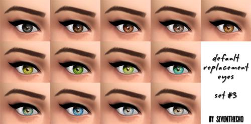 模拟人生4女性真实替换美瞳MOD