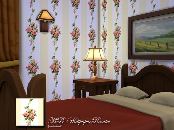 模拟人生4乡村风格花朵墙纸MOD
