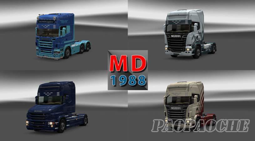 欧洲卡车模拟2斯堪尼亚新遮阳板MOD