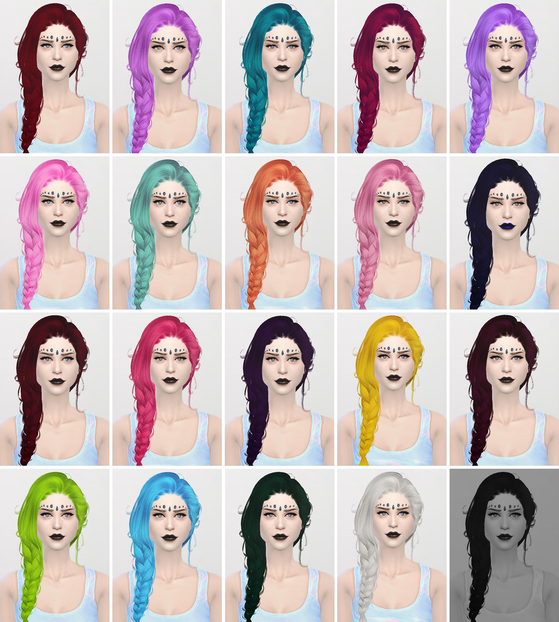 模拟人生4女性大辫子发型MOD