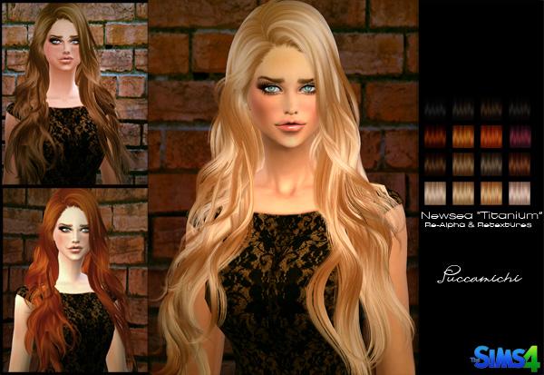 模拟人生4女性优雅大波浪长发