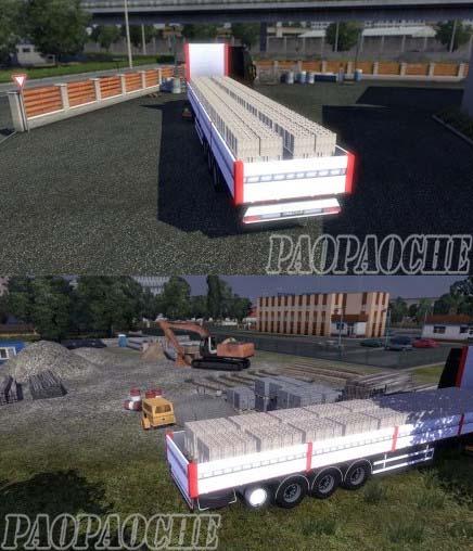 欧洲卡车模拟2水泥砖块运输车MOD