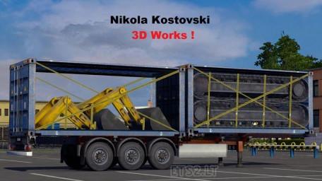 欧洲卡车模拟2挖掘机运载MOD