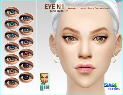 模拟人生4女性妖冶美瞳