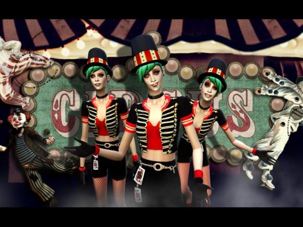 模拟人生4女性马戏团风制服MOD