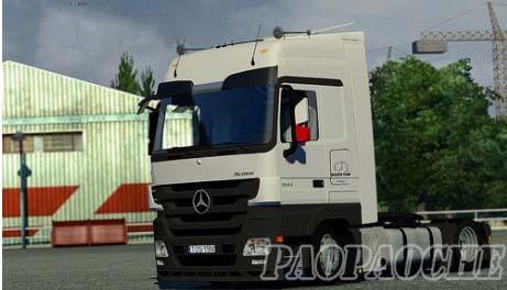 欧洲卡车模拟2梅赛德斯MP3低板卡车MOD