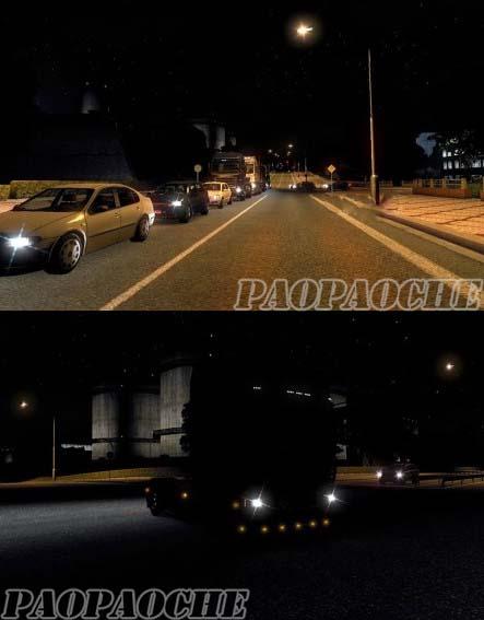欧洲卡车模拟2真实灯光环境MOD