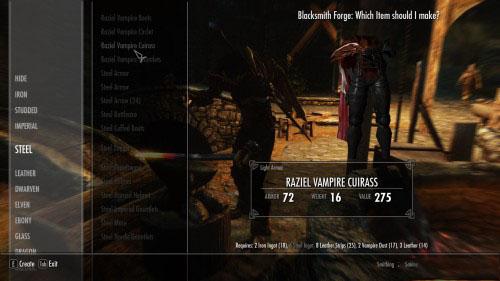 上古卷轴5Raziel的吸血鬼铠甲MOD