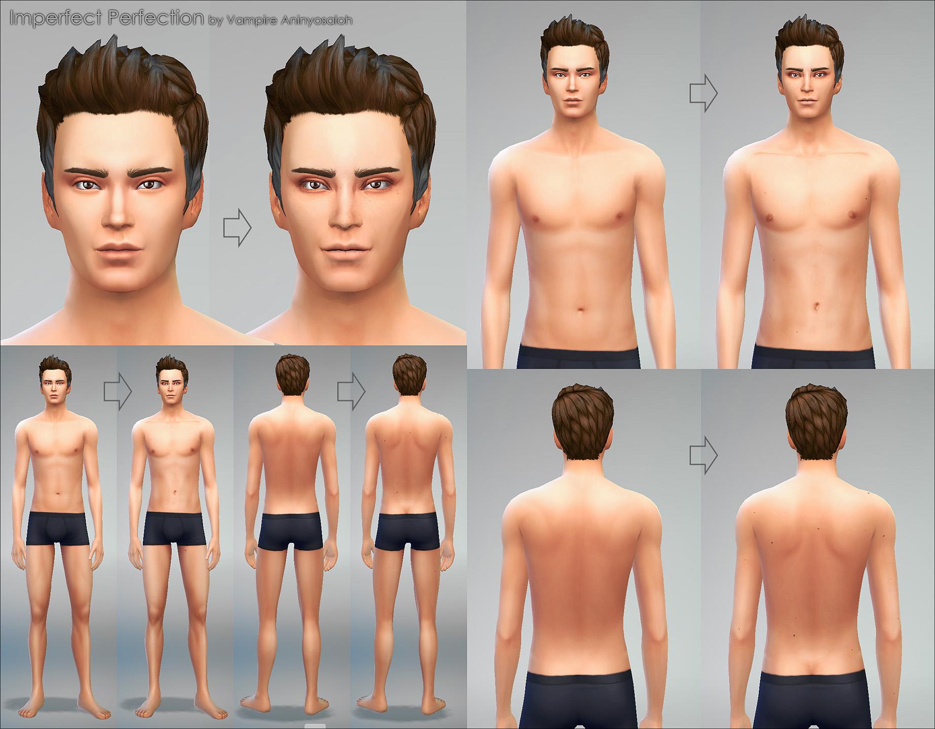 模拟人生4男女可用的新皮肤MOD