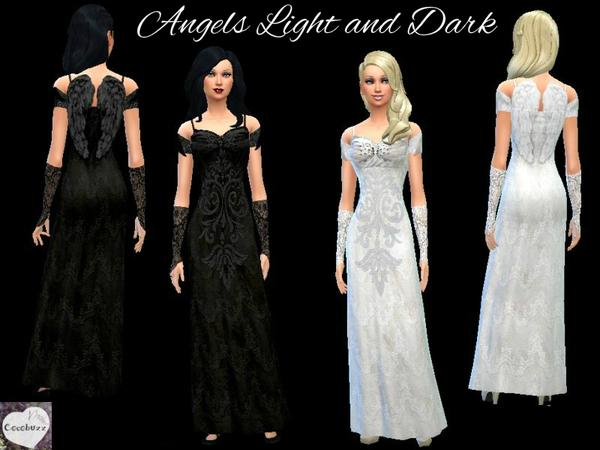 模拟人生4女性天使晚礼服MOD
