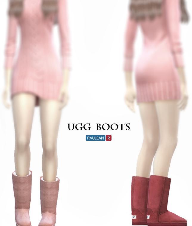 模拟人生4可爱的女用雪地靴MOD
