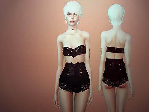 模拟人生4女性复古情趣内衣MOD