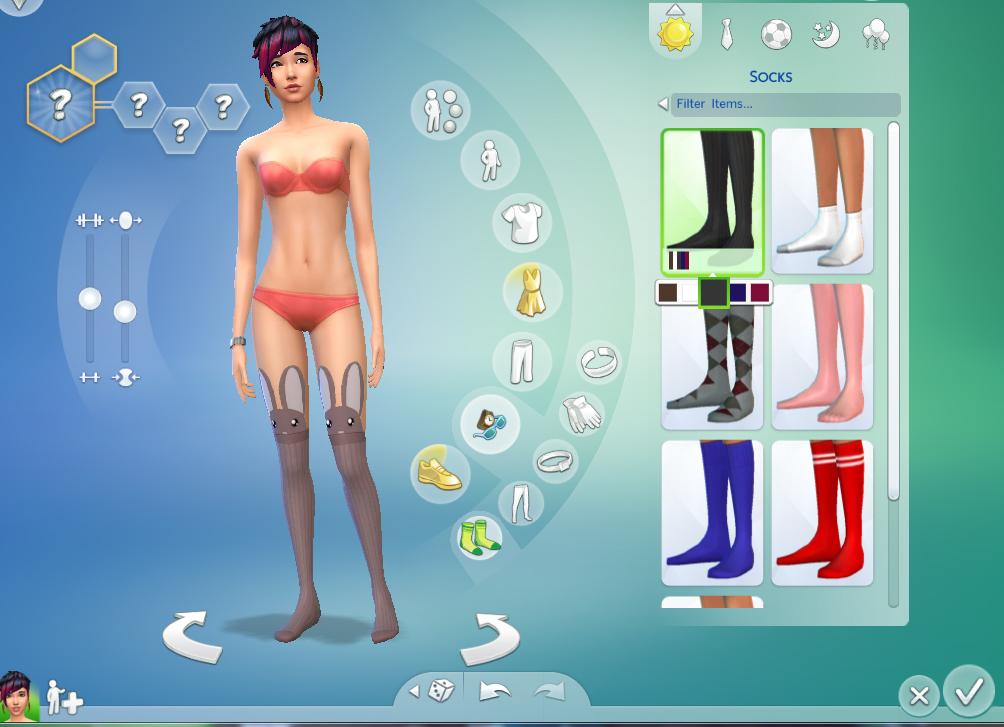 模拟人生4可爱棕兔性感丝袜