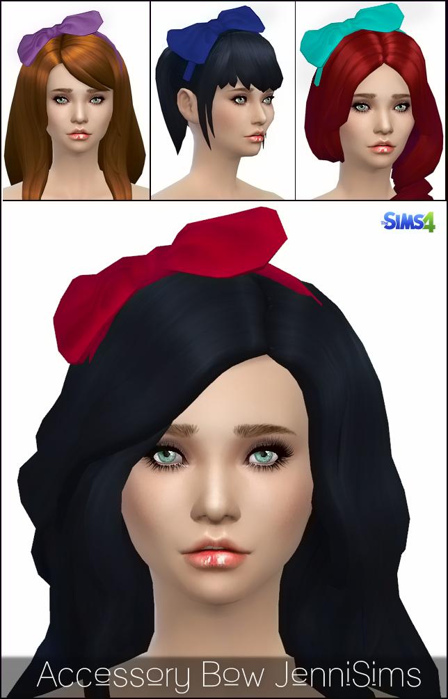 模拟人生4白雪公主同款蝴蝶结饰品