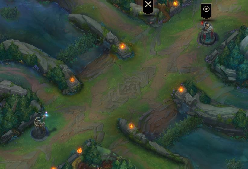 两边的防御塔居然变成了对角线的存在