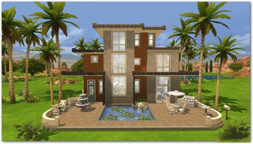 模拟人生4现代泳池别墅MOD