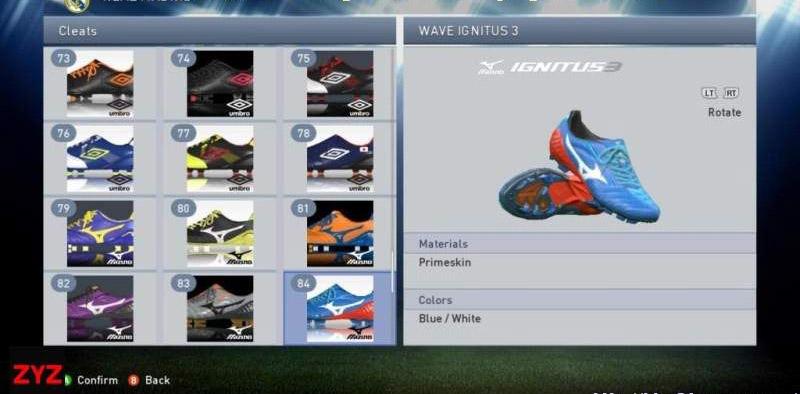 实况足球2015100款球鞋整合包MOD