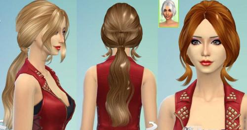 模拟人生4女性12F辫子头发MOD