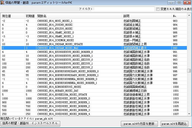 信长之野望14:创造威力加强版ParamPK日文修改器