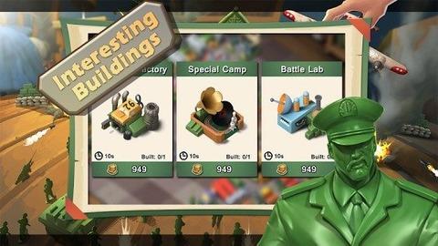 绿色的玩具士兵小人充满