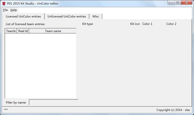 实况足球2015球衣工作室UniColor编辑器v1.1