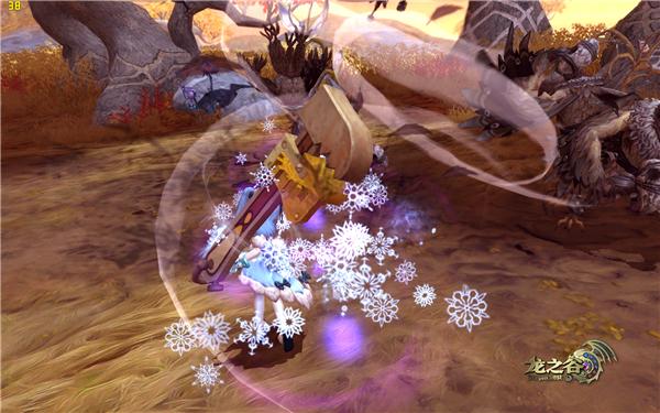 龙之谷能量交换器雪花结晶攻击效果