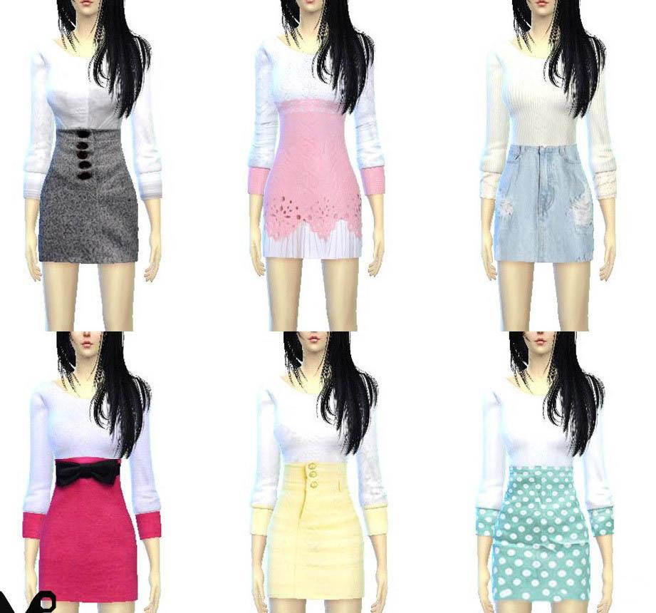 模拟人生4连衣包臀裙MOD