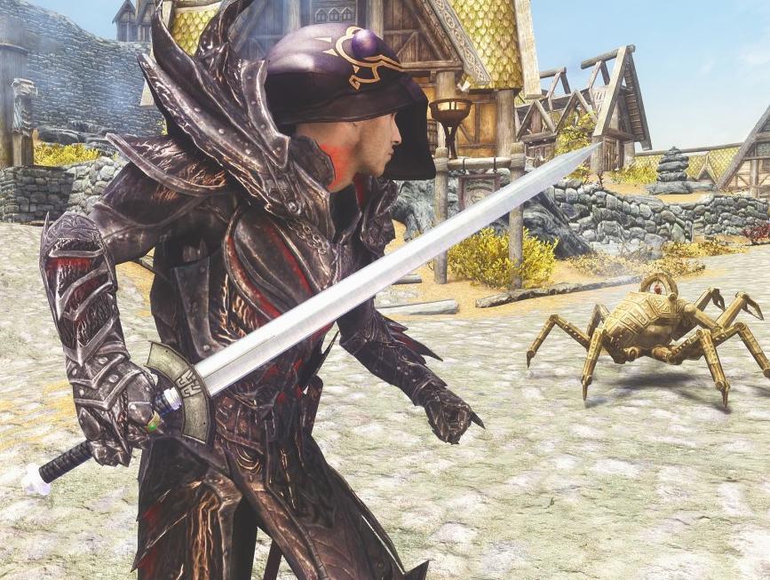 上古卷轴5最终幻想VII核心危机战士之剑MOD