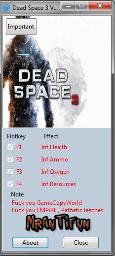 死亡空间3修改器+4