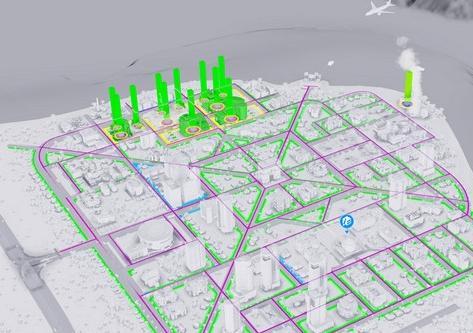 模拟城市5工业科技指示线MOD