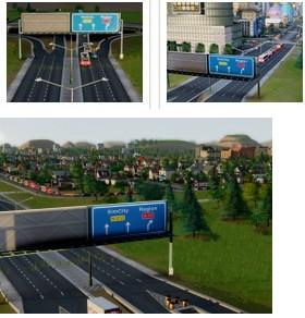 模拟城市5高速出入口标识牌MOD