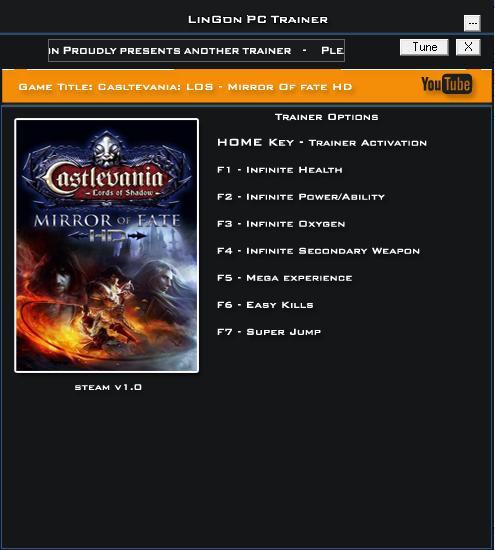 恶魔城:暗影之王-宿命镜面HD修改器+7