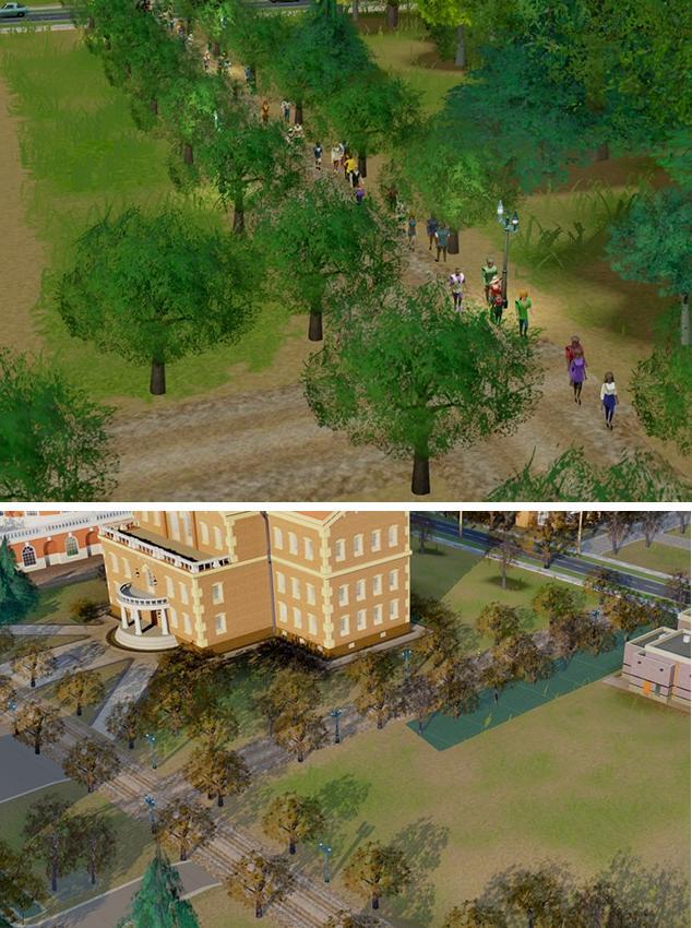 模拟城市5大学里的林荫土路MOD