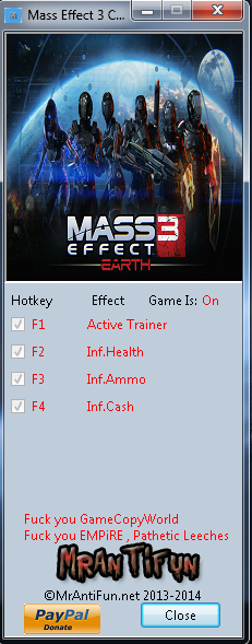 质量效应3最终收藏版修改器+3