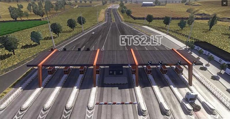 欧洲卡车模拟2收费站免停MOD