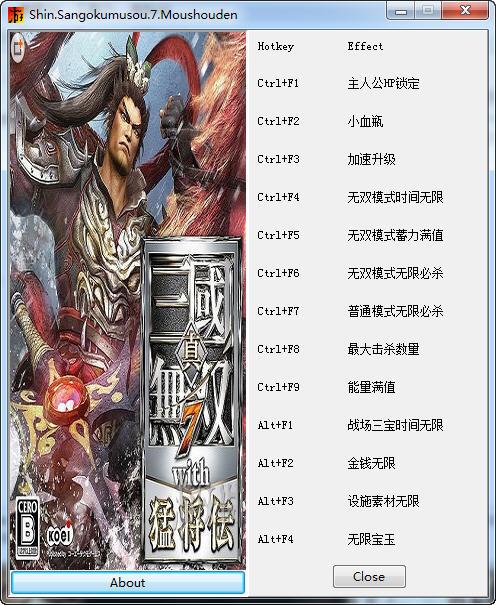 真三国无双7简中版修改器+14