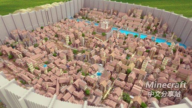 我的世界进击的巨人城镇存档