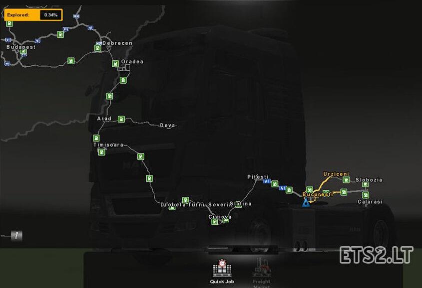 欧洲卡车模拟2罗马尼亚增补地图MOD