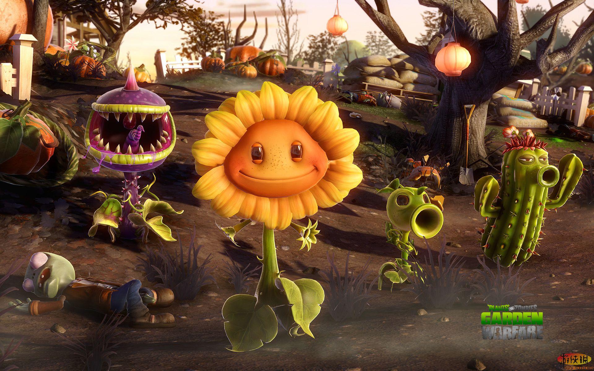 植物大战僵尸:花园战争windows7/8桌面主题