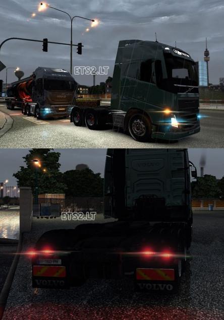 欧洲卡车模拟2高清灯光MOD
